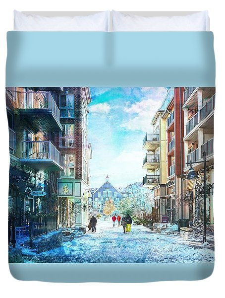 Blue Mountain Village, Ontario Duvet Cover