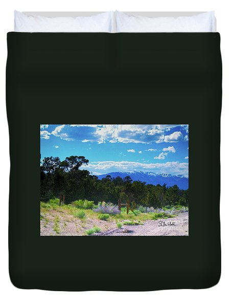 Blue Mountain West Duvet Cover