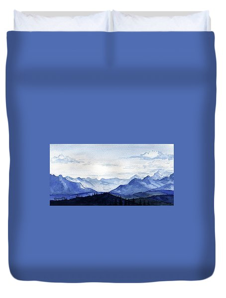 Blue Mountains Duvet Cover