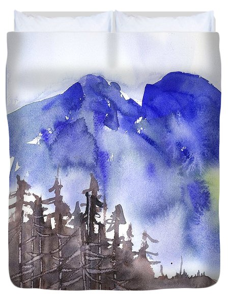 Blue Mountains Duvet Cover by Yolanda Koh