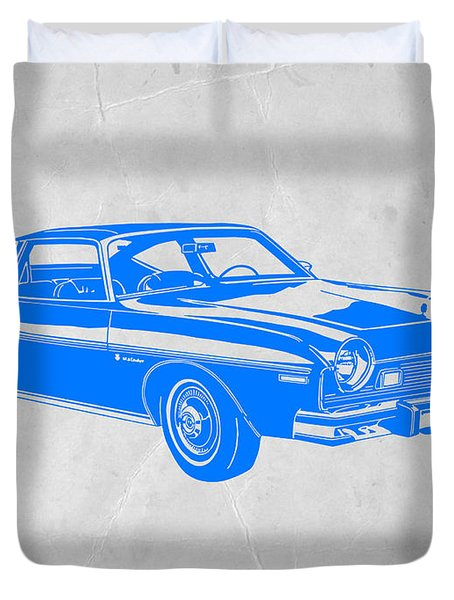 Blue Muscle Car Duvet Cover