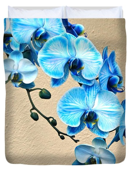 Blue Mystique Orchid Duvet Cover