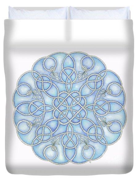 Blue Nautical Mandala 2 Duvet Cover