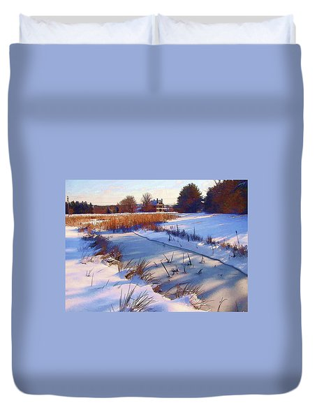 Blue Noon Duvet Cover by Betsy Zimmerli