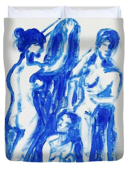 Blue Nude 2 Duvet Cover