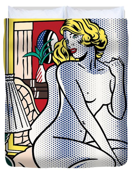 Blue Nude - Pop Art - Roy Lichtenstein Duvet Cover