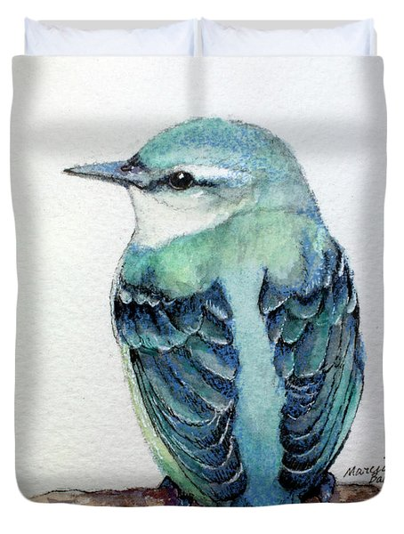 Blue Nuthatch Duvet Cover