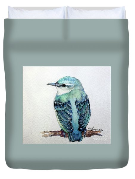 Blue Nuthatch Duvet Cover by Marcia Baldwin