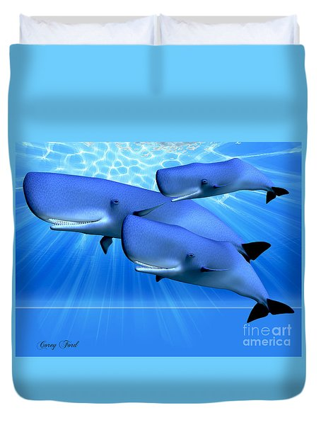 Blue Ocean Duvet Cover by Corey Ford