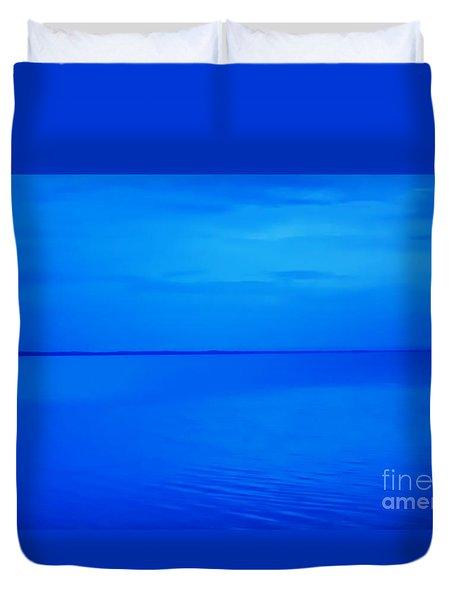 Blue Ocean Twilight Duvet Cover