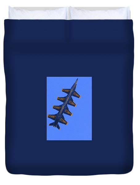 Duvet Cover featuring the photograph Blue On Blue by John King