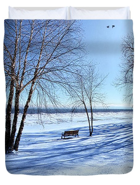 Duvet Cover featuring the photograph Blue On Blue by Phil Koch