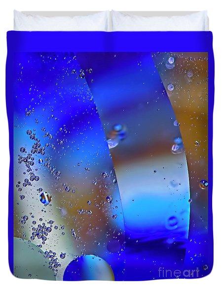 Blue Orbit  Duvet Cover