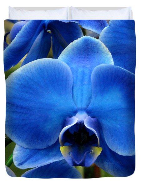 Blue Orchid Duvet Cover