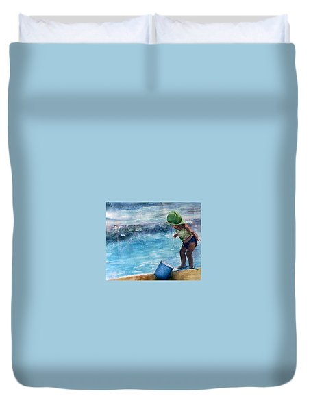 Blue Pail Duvet Cover