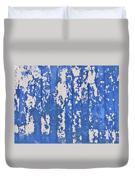 Blue Painted Metal Duvet Cover