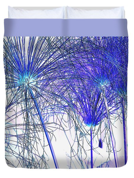Blue Papyrus Duvet Cover by Dana Patterson