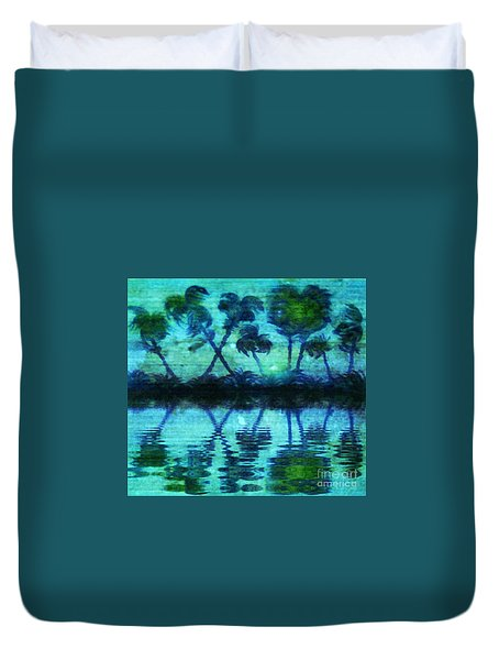 Blue Paradise Duvet Cover