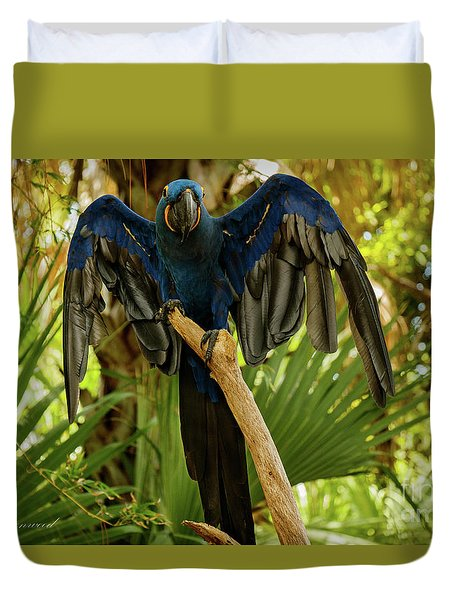 Blue Parrot Duvet Cover