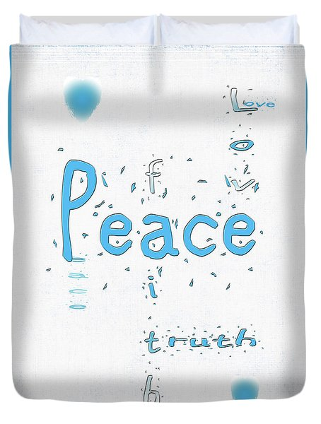 Blue Peace Duvet Cover