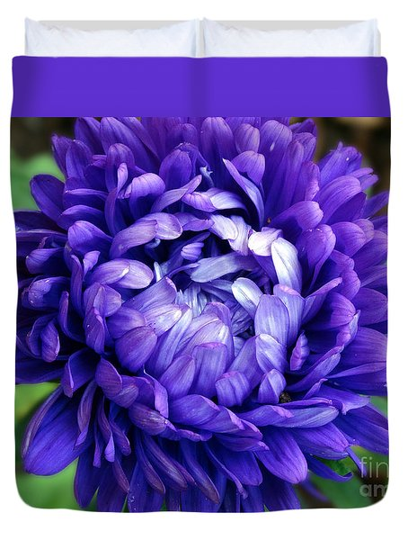 Blue Petals Duvet Cover