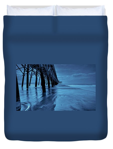 Blue Pier Duvet Cover