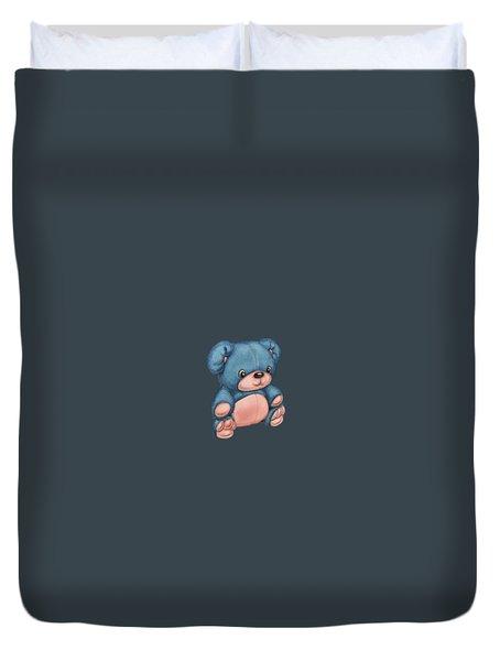 Blue Pink Bear Duvet Cover