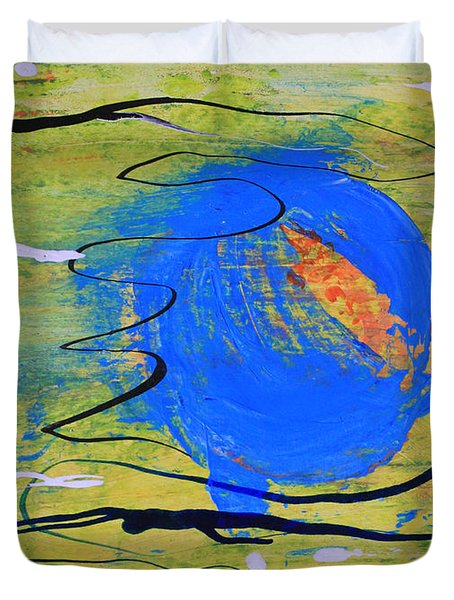 Blue Planet Abstract Duvet Cover