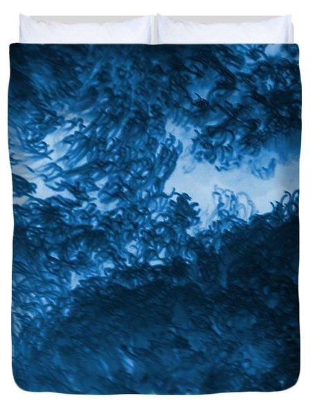 Blue Plants Duvet Cover by Kathleen Struckle
