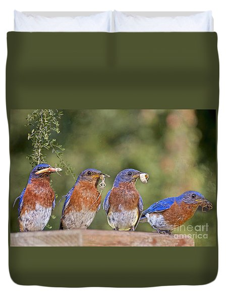 Blue Plate Lunch Special Duvet Cover by Bonnie Barry