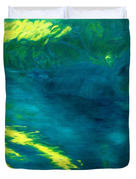 Blue Pool Off Ulaino Road Duvet Cover by Fay Biegun - Printscapes