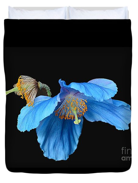 Blue Poppies Duvet Cover by Cindy Manero