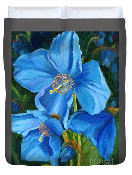 Blue Poppy Duvet Cover
