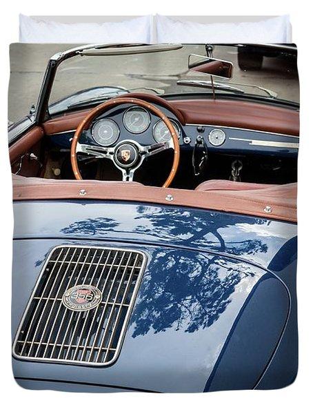 Blue Porche 356 Duvet Cover