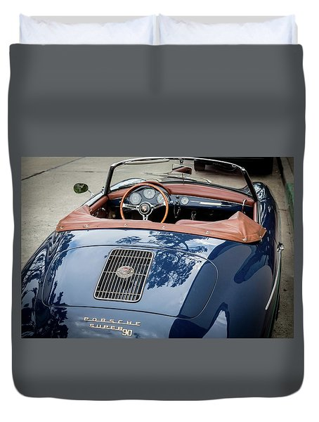 Blue Porche 356 Duvet Cover