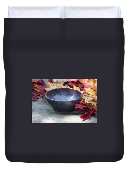 Blue Purple Bowl  Duvet Cover
