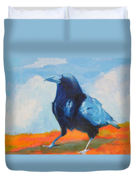 Blue Raven Duvet Cover