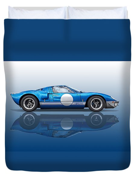 Blue Reflections - Ford Gt40 Duvet Cover
