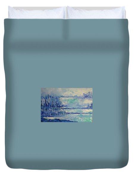 Blue Reflections Duvet Cover
