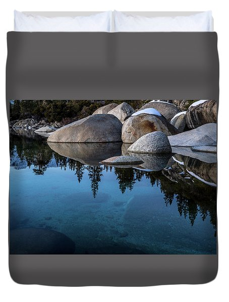 Blue Reflections Duvet Cover