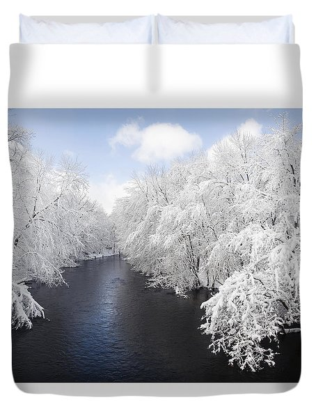 Blue Ribbon River Duvet Cover