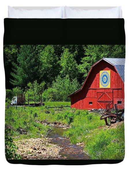 Blue Ridge Barn Duvet Cover