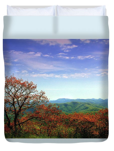 Duvet Cover featuring the photograph Blue Ridge Blessing by Jessica Brawley