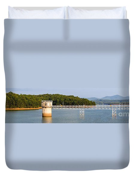 Blue Ridge Dam - Panoramic Duvet Cover