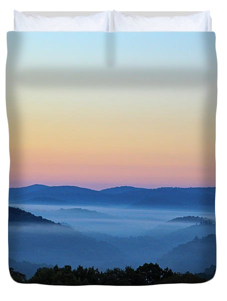Blue Ridge Dawn Duvet Cover by Dale R Carlson