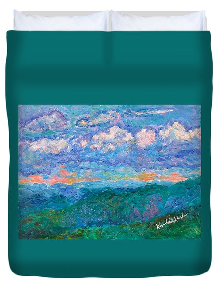 Blue Ridge Magic From Sharp Top Stage One Duvet Cover by Kendall Kessler