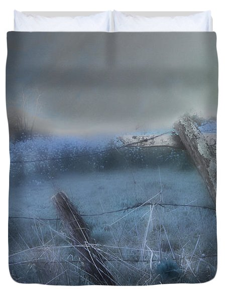Blue Ridge Morning Duvet Cover by Gray  Artus
