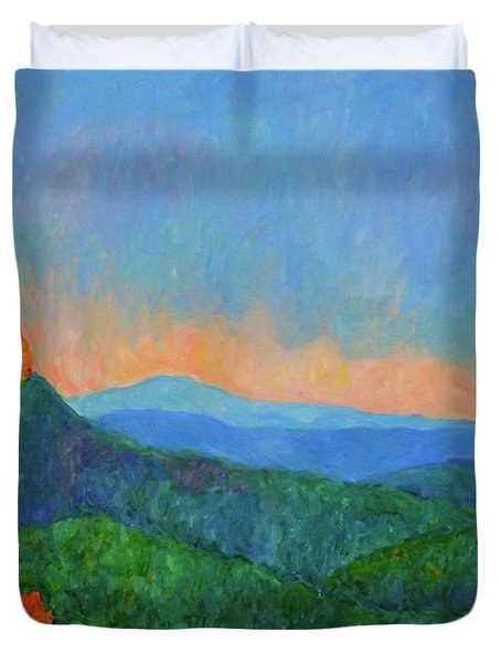 Blue Ridge Morning Duvet Cover