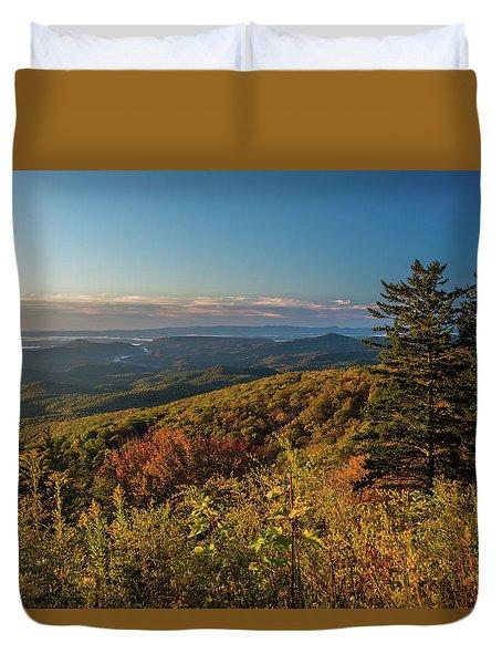 Blue Ridge Mountain Autumn Vista Duvet Cover