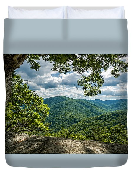 Blue Ridge Mountain View Duvet Cover
